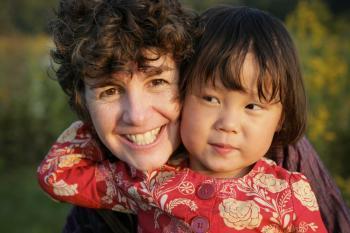Mum and oriental daughter