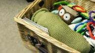 A basket of children's toys
