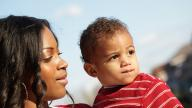 black mother with her son